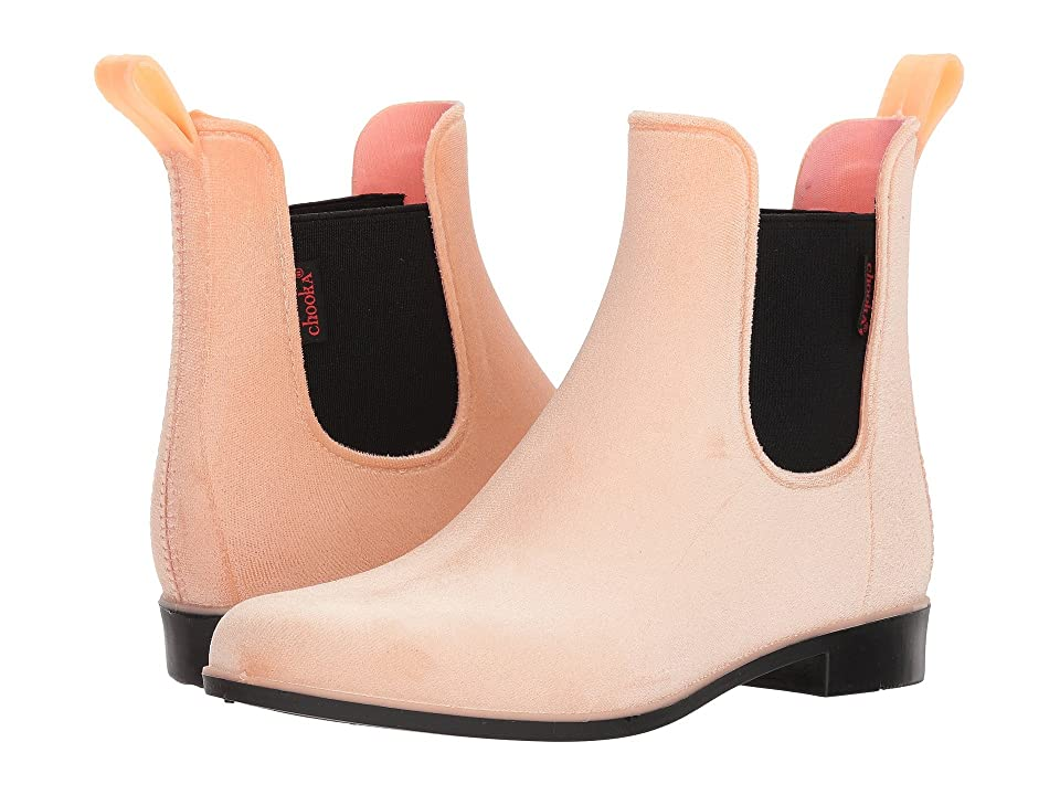 Chooka Vivien Velvet Chelsea Boot (Blush) Women