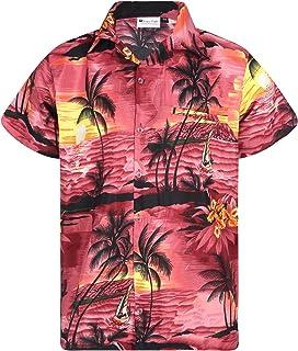 Virgin Crafts Men's Hawaiian Button Down Short Sleeves Casual Shirt