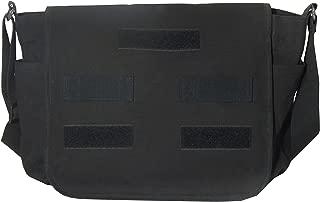 Military Luggage Company Black Canvas Classic Military Messenger Bag