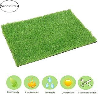 ECO MATRIX Artificial Grass Door Mat Fake Grass Rug Entrance Carpet Doormat for Indoor Outdoor Realistic Green Landscape Lawn Pad Synthetic Grass Turf for Dog (18inch x 24inch)