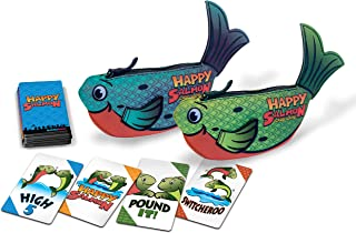 Happy Salmon Green & Blue Fish Bundle by North Star Games | Fast Paced Family Card Game | for up to 12 Players