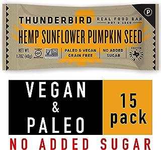 Thunderbird Paleo and Vegan Snacks - Real Food Energy Bars - Fruit & Nut Nutrition Bars - No Added Sugar, Grain and Gluten Free, Non-GMO, 15 Pack (Hemp Sunflower Pumpkin Seed)