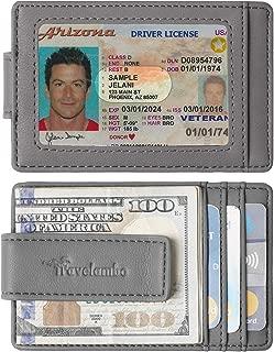 Travelambo Money Clip Front Pocket Wallet Slim Minimalist Wallet RFID Blocking