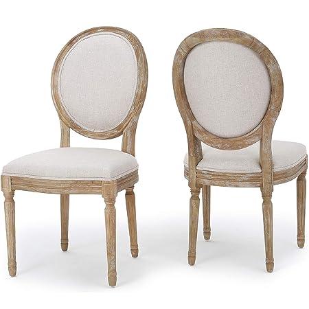 Christopher Knight Home Phinnaeus Beige Fabric Dining Chair Set Of 2 2 Pcs Set Furniture Decor