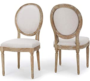 Christopher Knight Home Phinnaeus Beige Fabric Dining Chair (Set Of 2)