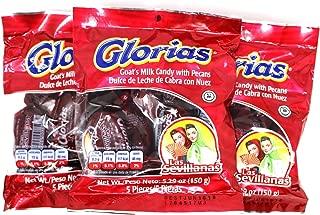 Glorias Las Sevillanas - Goat Milk Candy with Pecans 15.87 oz - 15 Pieces (3 Packs, 5 Units/Pack)