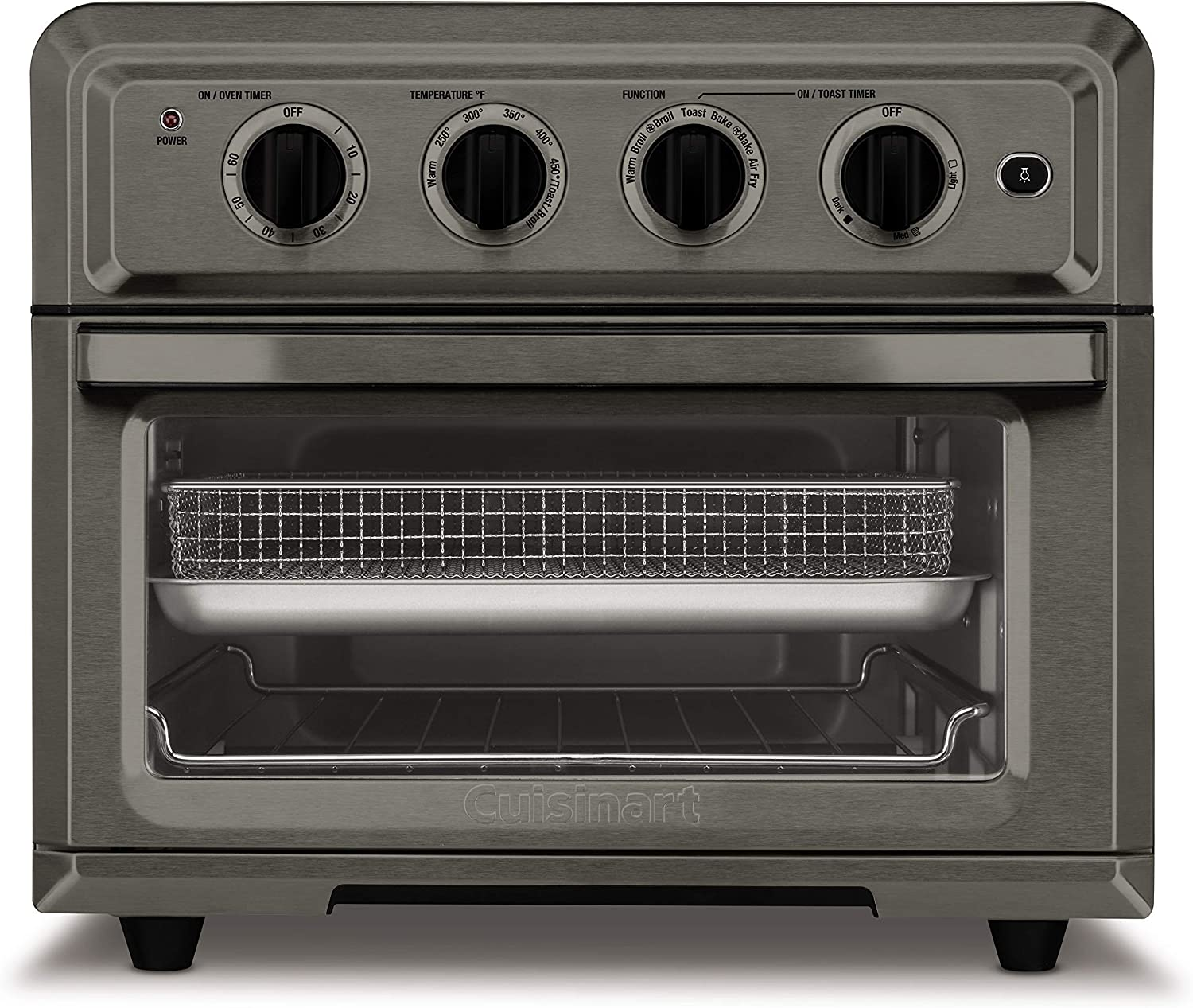 Cuisinart TOA-60BKS Convection Daily bargain Max 80% OFF sale Toaster Oven Black Airfryer SS
