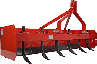 Titan 4' - 7' Box Blade Tractor Attachment Category 1 Cat 0 Scarifier Shank