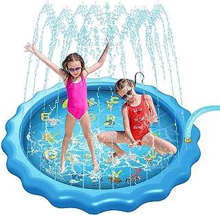 Gulymm Splash Pad Pool for Kids or Pet, Sprinkler for Kids Outdoor Toys with A-Z Letters ,Summer Hot Day Backyard Games ,K...