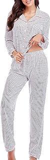 Pajamas for Women Lounge Set Cotton Sleepwear Comfy Soft...
