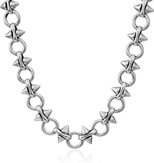 Spear and Circle Chain 20 in. Magnetic Necklace, RS