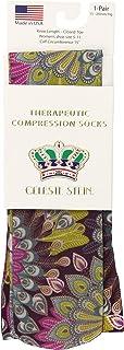 Celeste Stein Therapeutic Compression Socks, Purple Peacock, 15-20 mmhg, 1 Pair