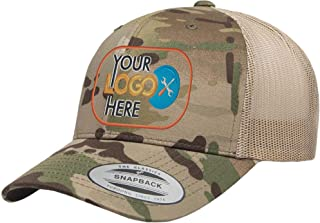 Custom Trucker Hat. Yupoong 6606 Embroidered Your Own Logo Curved Bill Snapback