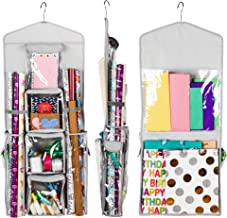 Regal Bazaar Double-Sided Hanging Gift Bag and Gift Wrap Organizer (Light Grey)