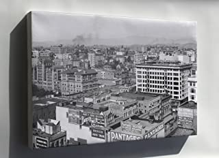 Canvas 16x24; Panoramic View Of Downtown Los Angeles Showing Pershing Square, Ca.1910 (5054) #031215