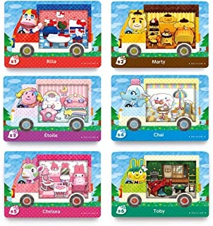 6PCS NFC Tag Card, Rilla , Marty , Etiile , Chai , Chelsea , Toby, compatibile per Switch / Switch Lite / Wii U / New 3DS,...