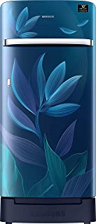 Samsung 198 L 5 Star Inverter Direct-Cool Single Door Refrigerator (RR21T2H2W9U/HL, Paradise Blue, Base Stand with Drawer)