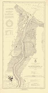 Map - Rochester Harbor, N.Y. Including Genesee River To Head Of Navigation, 1927 Nautical NOAA Chart - Vintage Wall Art - 13in x 24in