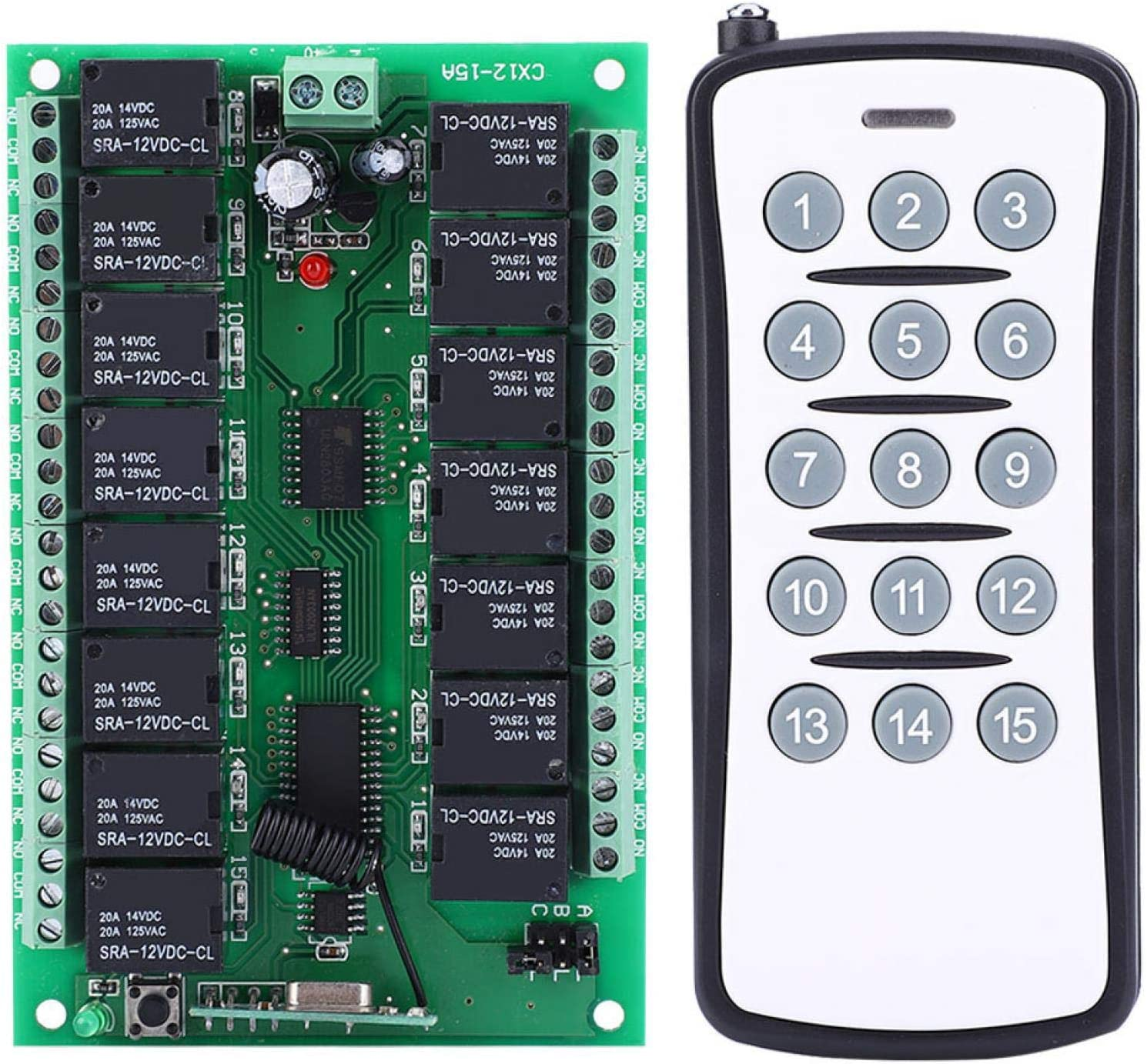 EVTSCAN DC 12V Wireless Remote Switch Max 41% OFF Bombing free shipping 15 Controller Transmitter
