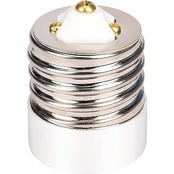 UL-listed E39 to E26 Adapter JACKYLED Mogul to Medium Light Bulb Lamp Socket Porcelain Converter 1-Pack