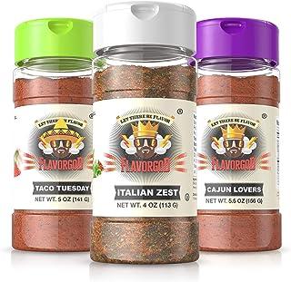 Flavor God Best-Selling Seasonings Vegan Lovers Combo Pack, Gluten Free, Low Sodium, Paleo, Vegan, No MSG 5oz. (3 Bottles)