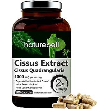 Cissus Quadrangularis Capsules, 1000mg Per Serving, 180 Capsules, Premium Cissus Capsules, Support Joint, Tendon, Bone, Skin, Hair and Cartilage, No GMOs