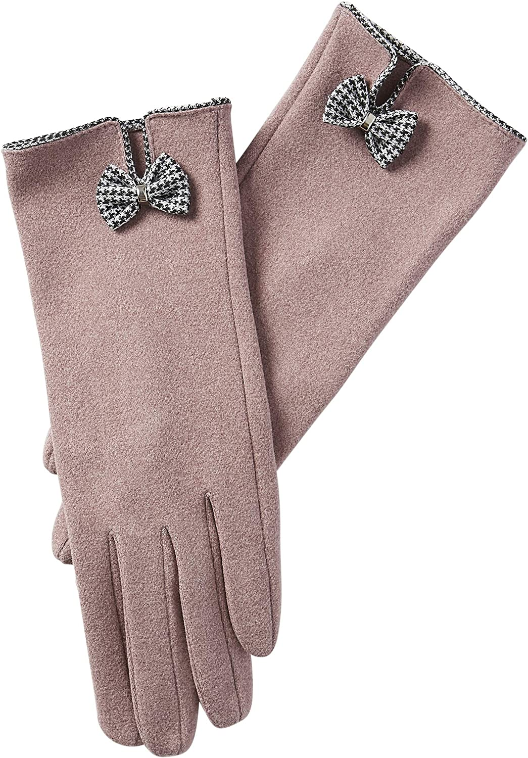 Tickled Pink womens Isla Bow Gloves