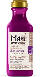 Maui Moisture Heal & Hydrate + Shea Butter Conditioner, 13 Ounce, Silicone Free Conditioner with Shea Butter and Coconut O...