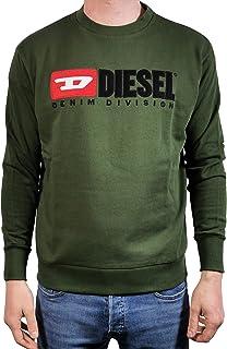 Diesel Men's Sweatshirt Green S-Crew Division
