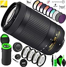 Nikon AF-P DX NIKKOR 70-300mm f/4.5-6.3G ED VR Lens with Creative Filter Kit and Pro Cleaning Accessories