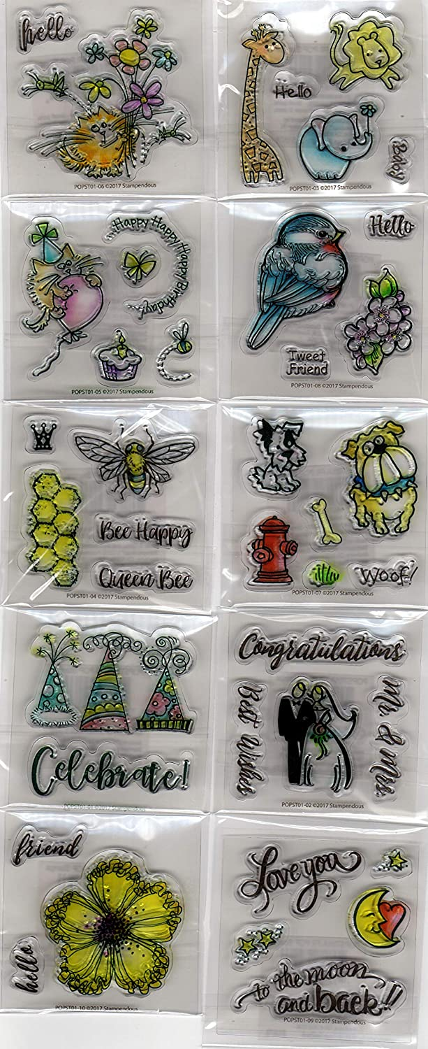 Regular store Ranking TOP6 Stampendous POPST01A Fran's Everyday Stamp Unmounted Mini Clear