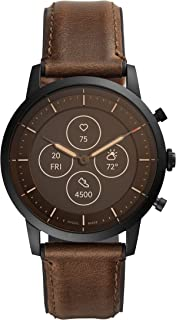 Fossil Collider Hybrid Hr Smartwatch Analog-Digital Black Dial Men's Watch-FTW7008