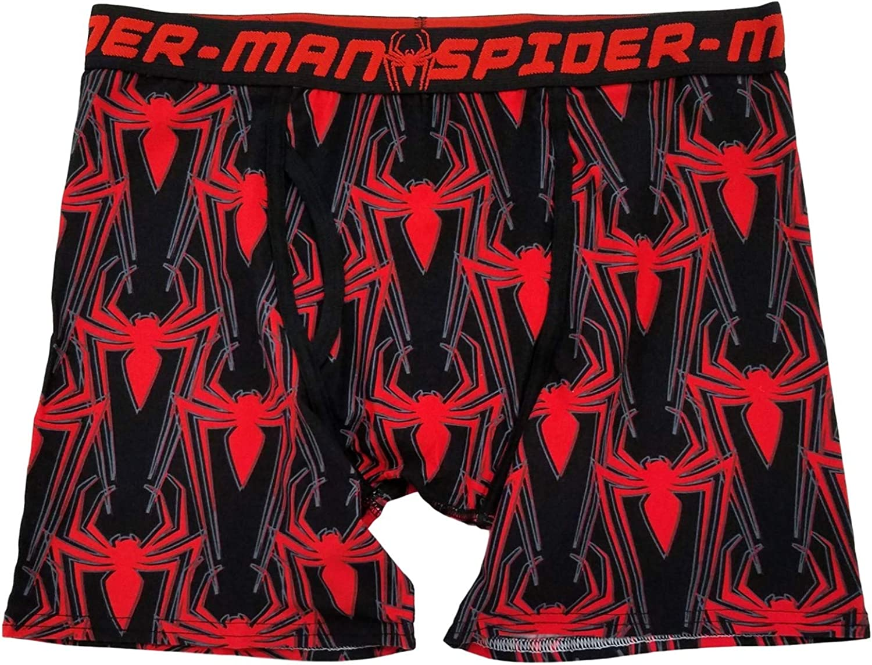 Marvel Mens Black & Red Spider-Man Underwear Boxer Briefs Boxers