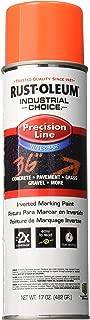 Rust-Oleum Corporation Rust-Oleum 203037 M1800 System Precision Line Inverted Marking Spray Paint, 17-Ounce, Fluorescent Red-Orange,