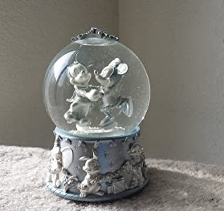 Disney Mickey Mouse & Minnie Ice Skating Snow Globe ; Special Edition 2002 Collectible Snowflake