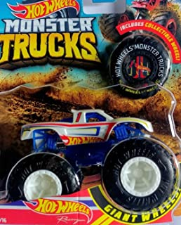 Hot Wheels 2018 RELEASE MONSTER JAM RACING MONSTER TRUCK DIE-CAST WITH COLLECTIBLE WHEEL TOKEN