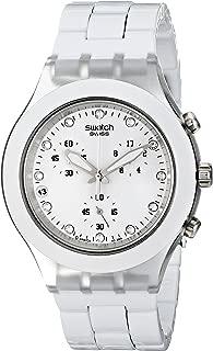 Swatch Men's SVCK4045AG Quartz Chronograph Date Plastic White Dial Watch