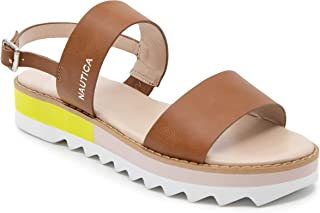 Nautica Womens Casual Flat Sandals Comfort Sandals with Buckle-Knylee 2