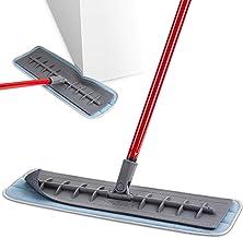 Tyroler 明亮工具,18 英寸专业超细纤维拖把,* 硅胶地板拖,干湿/干尘拖把,适用于硬木地板、层压板和瓷砖地板,房间和厨房清洁