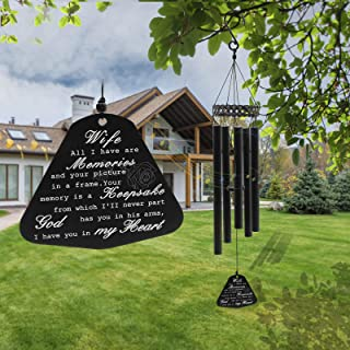 SUMDGE Life Memorial Wind Chimes for Loss of Wife Prime Sympathy Gifts Loss of Loved One, 30 Inch Rememberance in Memory L...