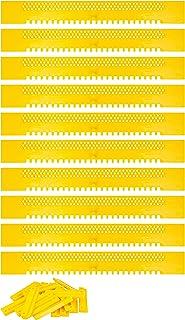 Lantelme Fluglochschieber 10 Stück Bienen Fluglochverkleinerer und Scharnier Set Imker Imkereibedarf Bienenflucht Kunststoff gelb 2473