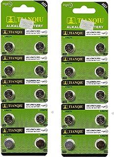 Tianqiu AG7 LR927 SR927SW LR57 SR927 Button Cell Batteries [20-Pack]