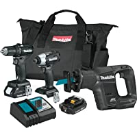 Makita CX300RB 18V 3-Piece LXT Lithium-Ion Sub-Compact Brushless Cordless Combo Kit (Driver-Drill/Impact Driver/Recipro Saw)
