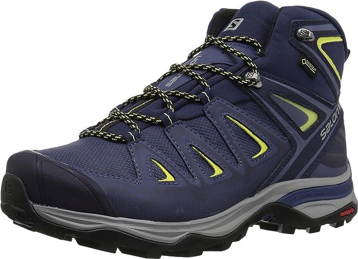 Salomon X Ultra 3 Wide Mid GTX W Women's Hiking Shoe crown blueevening bluesunny lime
