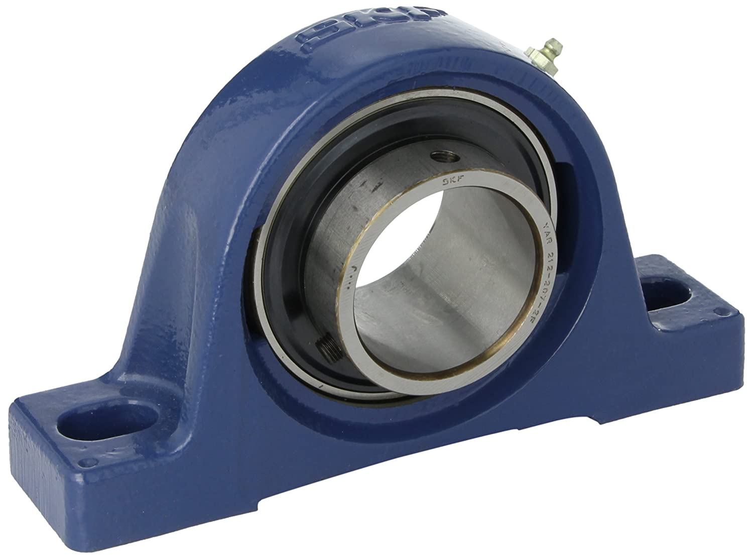 TF Pillow Block Ball Bearing 1 Shaft SKF SY 1 Contact Flinger Seals Setscrew Locking Collar 1-7//16 Base To Center Height Inch Cast Iron 2 Bolts 4 Bolt Hole Spacing Width 2430 pounds Dynamic Load Capacity