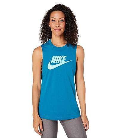 Nike Sportswear Tank Essential Muscle Futura (Green Abyss) Women