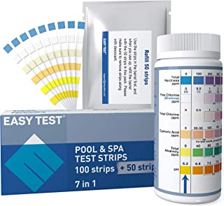 Pool Test Strips 7 in1(100+50 Count) for Pool, SPA and Hot Tub, EASYTEST Pool Chemicals & Water Testing, accurate and Fast...