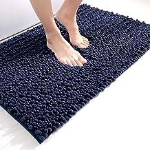 DEXI Bath Mat Bathroom Rug Non Slip Absorbent and Soft Floor Mats Washable Chenille for Bathtub Toilet Shower Room Entrywa...