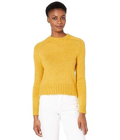 J.Crew Saddle Sleeve Crew Neck Sweater (Warm Chartreuse Multi Heather) Women
