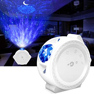 Night Light Projector, LBell 3 in 1 Ocean Wave Projector Star Projector w/LED Nebula Cloud& Moon, Voice Control, Galaxy Pr...
